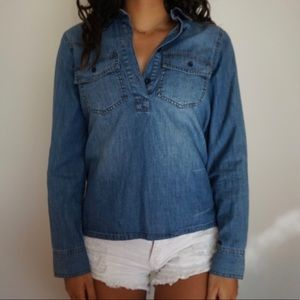 Madewell Button-Up Denim Shirt